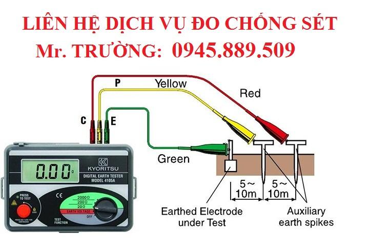 đo điện trở chống sét Bình Thạnh
